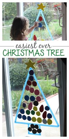 This christmas activity is something kids can do over and over - it so easy to set it up and it protect the ornaments on your real tree (for a little while!)