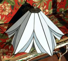 Vintage Dale Tiffany Hanging Stained Glass Lamp by KZStudioz, $149.00