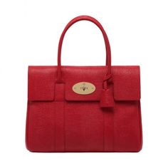 2013 Mulberry Bayswater Bright Red Textured Lizard Print