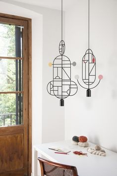 Barcelona's Goula / Figuera studio just released these mobile-like Lines & Dots lamps