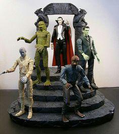 31 Days Of Halloween - Day 27 - Frankenstein And Friends Horror Icons, Horror Films, Horror Art, Horror Merch, Gi Joe, Horror Action Figures, Horror Monsters, Frankenstein's Monster, Famous Monsters
