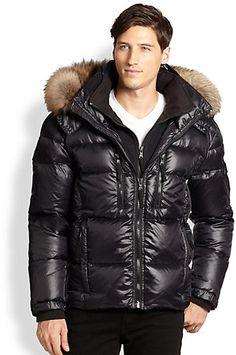 SAM. Fur-Trimmed Mountain Puffer Jacket