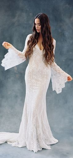 Bohemian Wedding Dress by Wilderly Bride from Allure Bridals