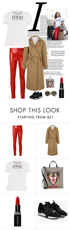 """""""Street Fashion in NY"""" by kotnourka ❤ liked on Polyvore featuring Givenchy, TIBI, River Island, Gucci, Smashbox, Balenciaga and Louis Vuitton"""