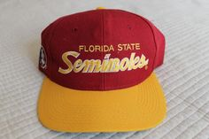 f2b09b60c80a2 Vintage FSU Florida State Seminoles Sports Specialties Script Snapback Hat  Cap  FloridaStateSeminoles