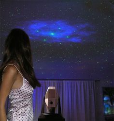 Night sky done with black light paint. I really want to do this in Jackson's room when we get our own place. :3