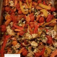 Ovengroeten met zoete aardappelen en kip : Recepten van Domy