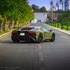 Lamborghini Aventador Super Veloce Coupe painted in Army Green w/ Orange accents Photo taken by: @hosamalghamdi on Instagram (@bandar_a_alsaud on Instagram)