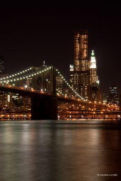 Brooklyn bridge by night #NYC