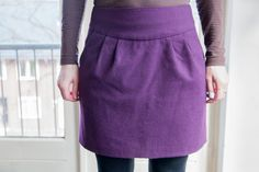 View details for the project A purple winter skirt on BurdaStyle.
