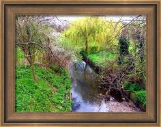 #Silk #Stream #London #Framed #Print By Judi Saunders. Many choices of frame colors and styles.