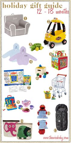 12 Holiday Gift Ideas for 12 - 18 month olds!