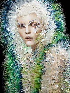 Kate Bogucharskaia for Vogue China April 2014, ph. by David Dunan.