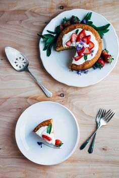 ricotta strawberry cake // brooklyn supper
