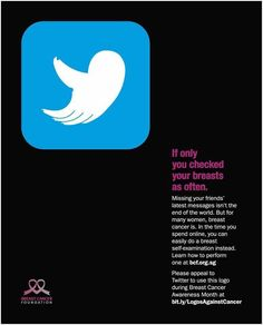 """Twitter"", by DDB Singapore for Breast Cancer Foundation. 2014."