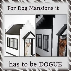 Dog mansions for the pampered pooch @windmill_joiner