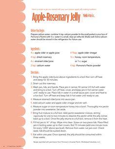 Apple-rosemary jelly