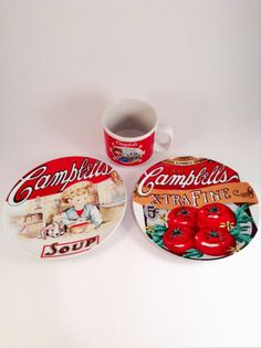 5cb1166831 Campbell s Soup Plates and Mug Set Heritage Collection 2002 - 2003