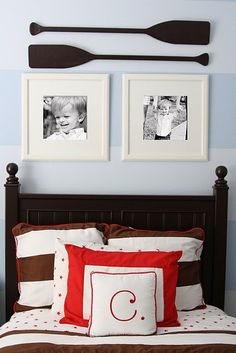 Black & White photos. For the boys room