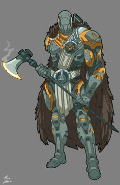 Viking commission by phil-cho on DeviantArt Fantasy Character Design, Character Design Inspiration, Character Concept, Character Art, Superhero Characters, Dnd Characters, Fantasy Characters, Science Fiction, Armor Concept