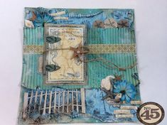 This By the Sea layout has a hidden mini and a great tutorial! Great idea by Denise Johnson #graphic45 #layouts