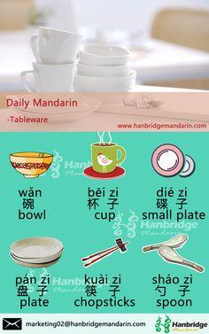 Hanbridge Mandarin Daily Chinese vocabulary-- Tableware