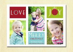 Family Photo Christmas Card: Printable