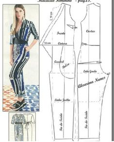 Good afternoon, our sentence e. Let's start with the overalls, the basic body of the modeling work on the body itself. For other jumpsuit models, you can click: Please comment to support and clicImage may contain: 1 person Sewing Pants, Sewing Clothes, Diy Clothes, Dress Sewing Patterns, Sewing Patterns Free, Clothing Patterns, Jumpsuit Pattern, Pants Pattern, Diy Inspiration