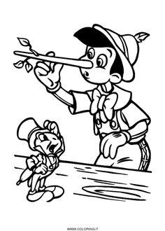 Guarda tutti i disegni da colorare di Pinocchio www.bambinievacanze.com