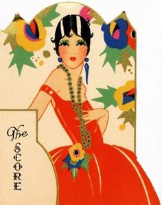 quenalbertini: Art Deco Bridge Tally by Charles S. Clark Co. Retro Poster, Poster Art, Kunst Poster, Art Deco Posters, Poster Vintage, Vintage Art, Vintage Ephemera, Art Deco Illustration, Moda Art Deco