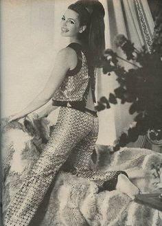 Princess Ira von Furstenberg in Ungaro, 1967