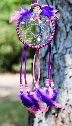 Dreamcatcher Girls Purple Pink Dream Catcher by OurLostAngelsDesigns on Etsy
