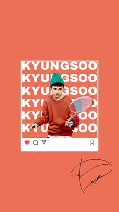 Exo Chanyeol, Kyungsoo, Kaisoo, Aesthetic Iphone Wallpaper, Aesthetic Wallpapers, Exo Cartoon, Exo Merch, Exo Lockscreen, Exo Do