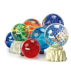 Gazing Globes -- these really look fun grouped together