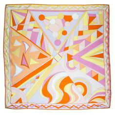 Iconic Mod Pucci  Silk Scarf | From a collection of rare vintage scarves at https://www.1stdibs.com/fashion/accessories/scarves/