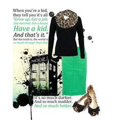"""You can learn a lot about life by watching Doctor Who."" by december-baby on Polyvore"