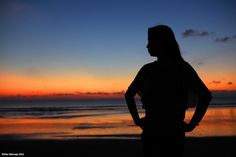 Her silhouette...