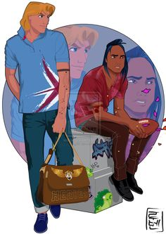 John Smith and Kocoum - Pocahontas | 21 More Disney Characters As Modern College Students