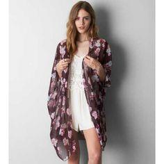 AEO Floral Kimono Vacation Wardrobe cda115d9b