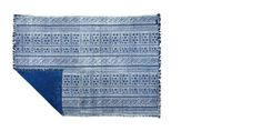Swoon Editions Hand-woven rug, shabby chic style in Persia Blue - £99