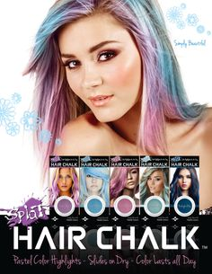 SPLAT Hair Chalk: Available at Walgreens and Walmart: Assorted Colors