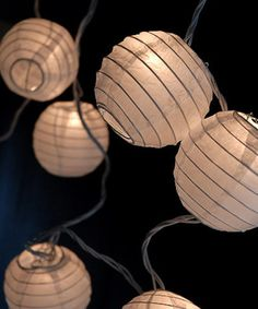 White Paper Lantern String Light