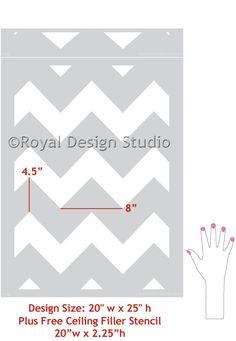 Modern Stencils | Modern Chevron Wall Stencils | Royal Design Studio