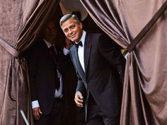 George Clooney & Amal Alamuddin's Whirlwind Wedding Weekend | WELL GROOMED | Peekaboo! A dapper George Clooney gets ready to make it official as he arrives at the Aman Canal Grande Venice hotel for his wedding to Amal Alamuddin on Saturday.