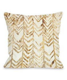 Take a look at this Gold Chevron Glitter Square Throw Pillow on zulily today!