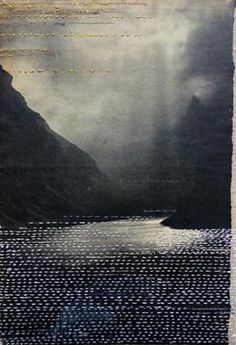 Hinke Schreuders views on paper, embroidery and felt on paper on linen. Textiles, Bordados E Cia, Foto Transfer, Photocollage, Paper Embroidery, Embroidery Ideas, Art Graphique, Art Plastique, Fabric Art