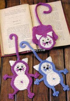 Receitas de Trico e Croche: Marcador para livros em crochê