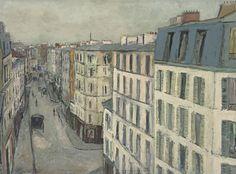 """thunderstruck9: """"Maurice Utrillo (French, 1883-1955), Rue de la Jonquière, c.1910. Oil on canvas, 60 x 81 cm. """""""