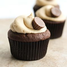 Peanut Butter Cup Cupcakes from thelittlekitchen.net