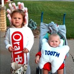 Happy Holloween....How cute are these siblings dressed as an Oral B Toothbrush and a Tooth!!! :)